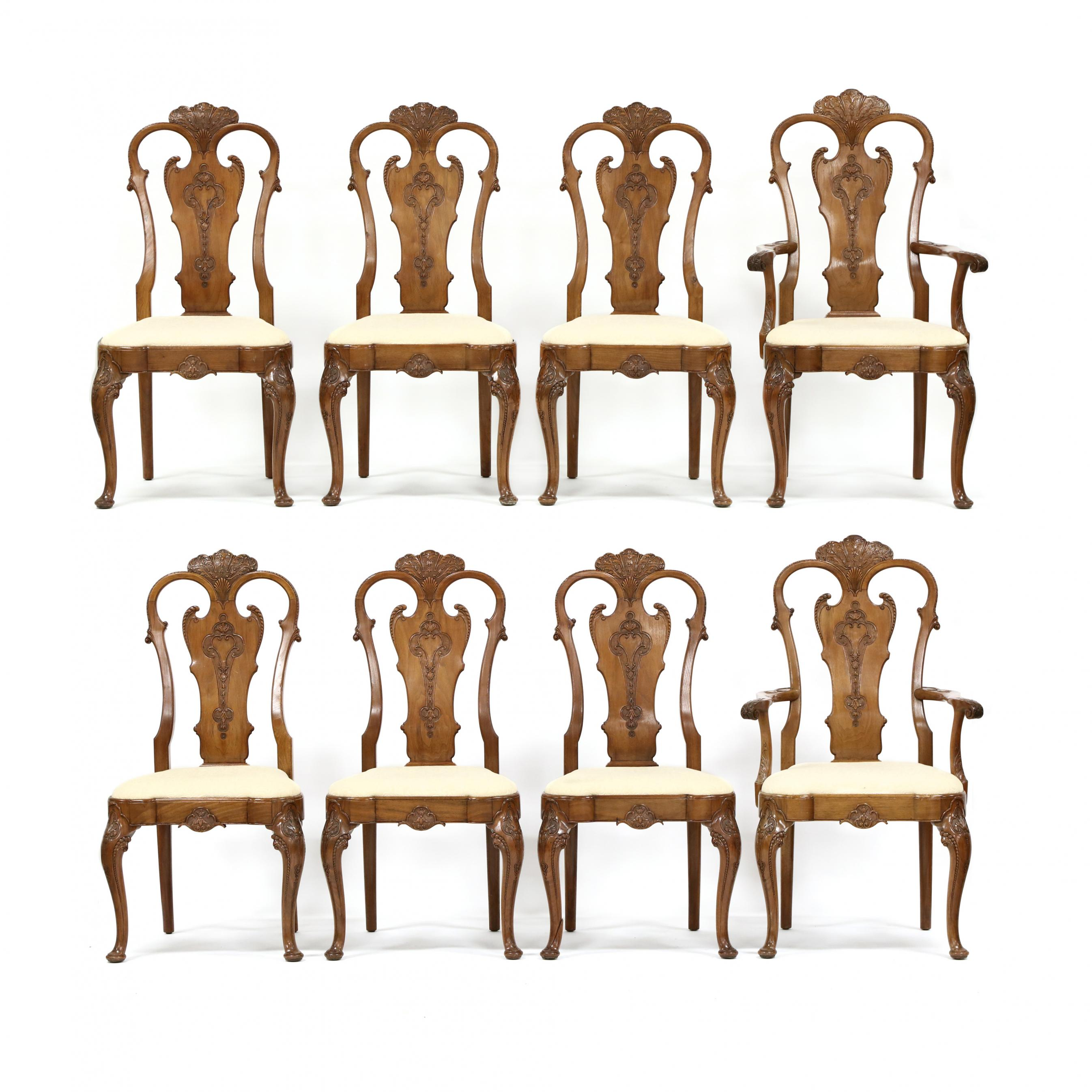 set-of-eight-custom-queen-anne-style-carved-mahogany-dining-chairs