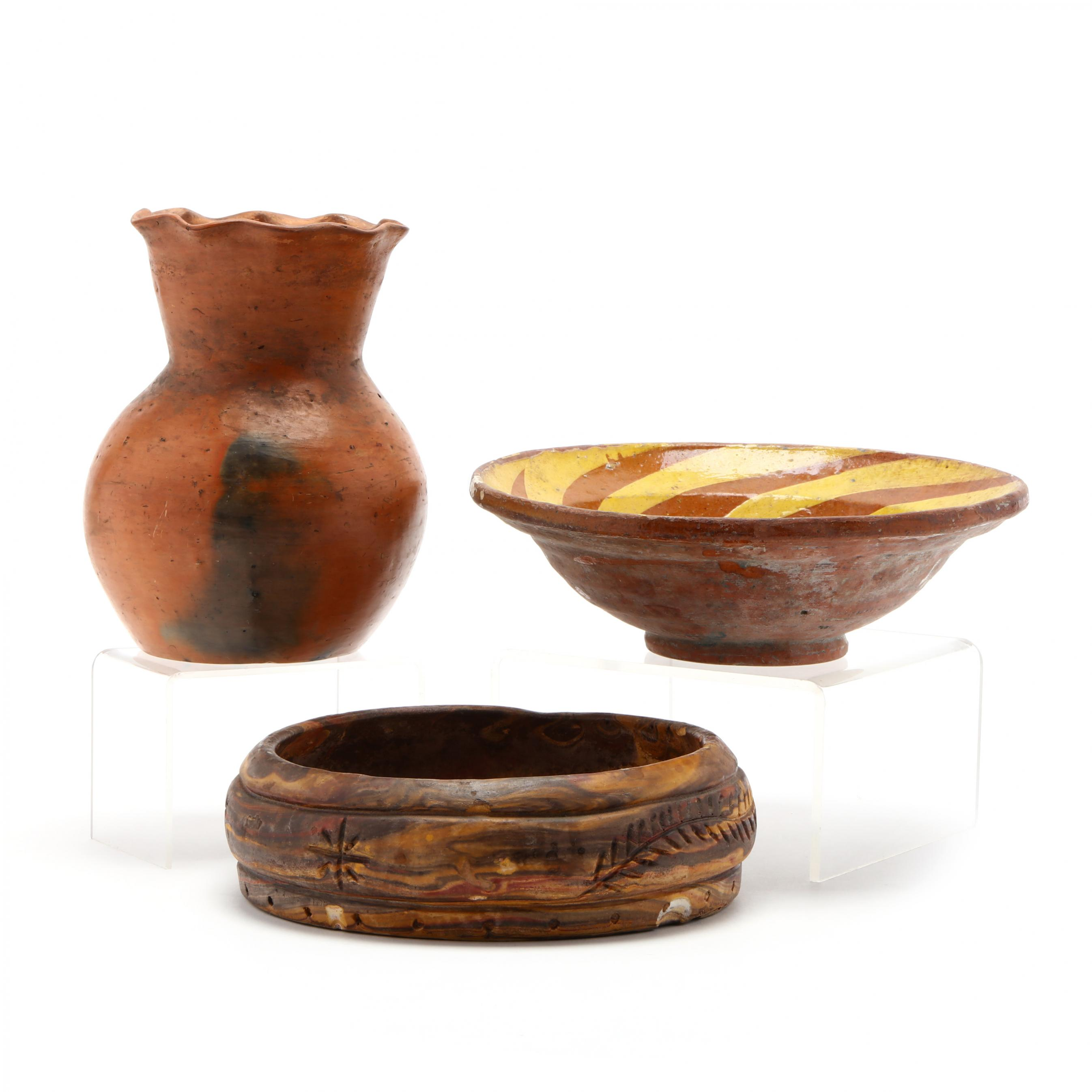 three-earthenware-pottery-items