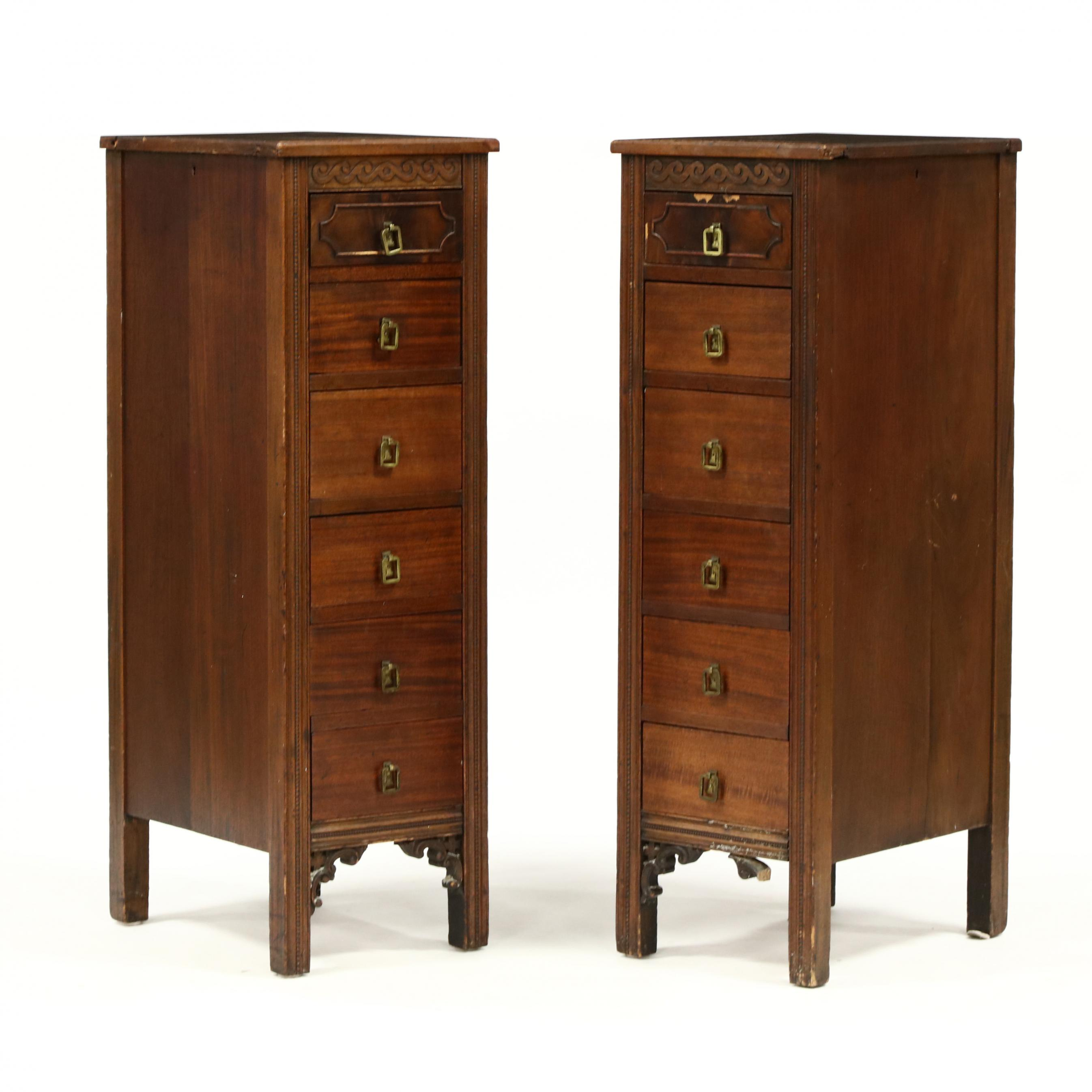 pair-of-tall-mahogany-lingerie-chests