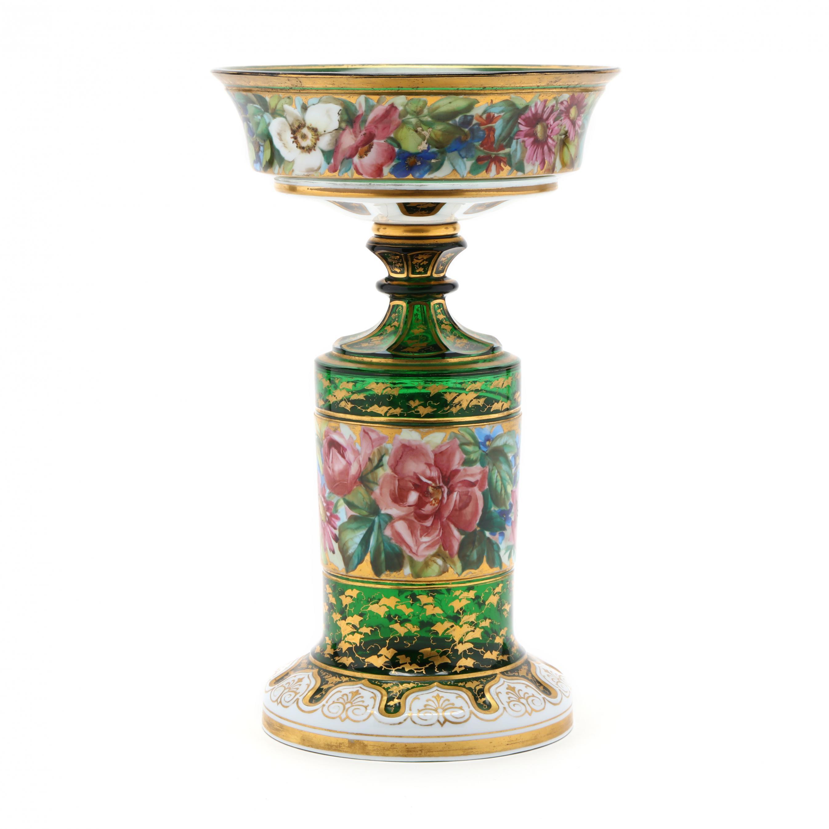 att-moser-enamel-decorated-glass-centerpiece