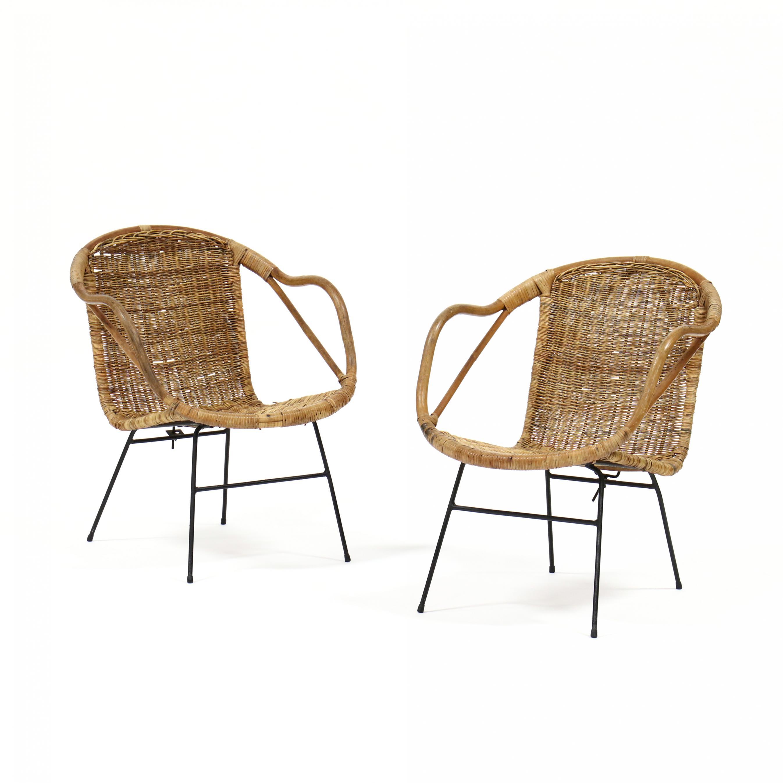 pair-of-mid-century-wicker-armchairs