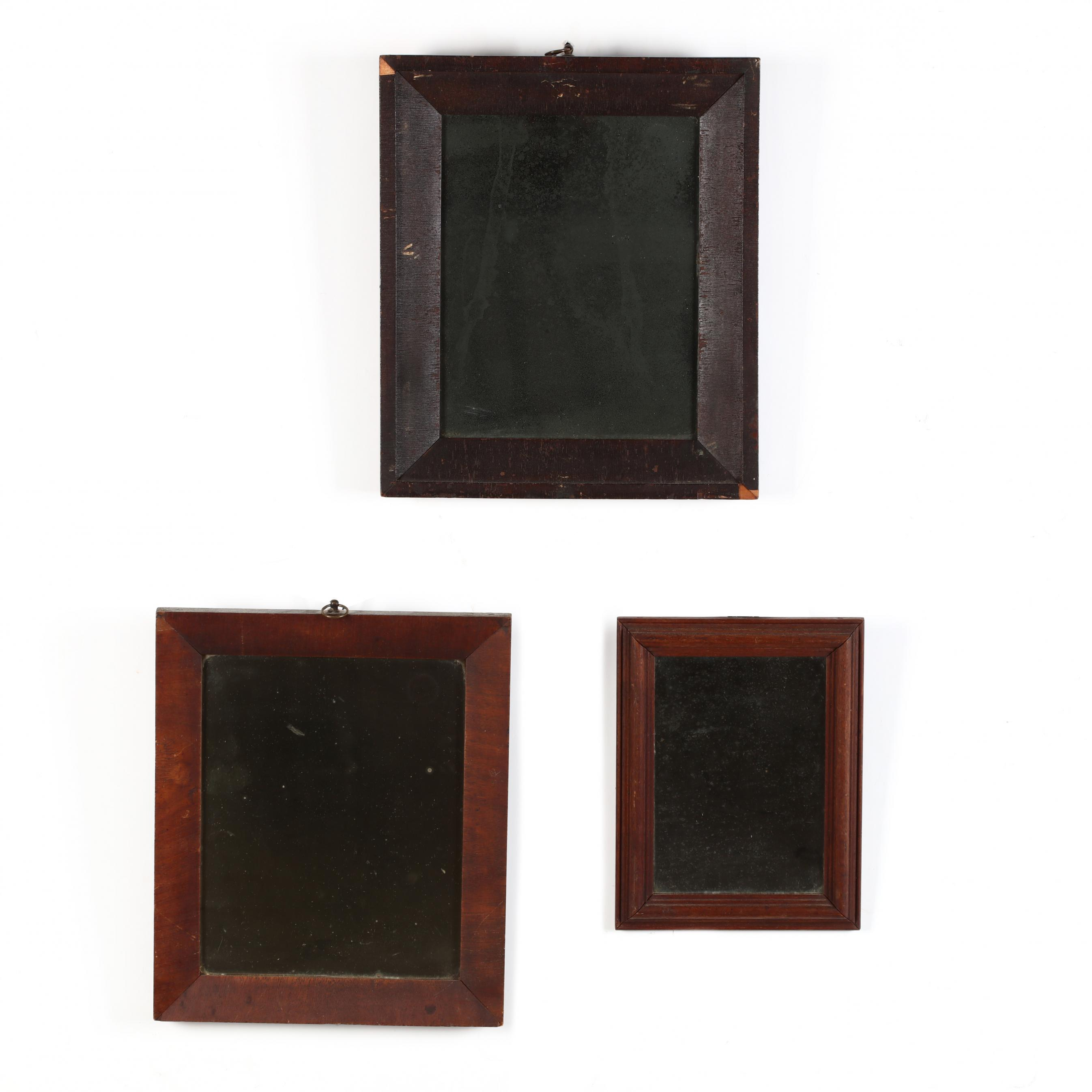 three-small-antique-mirrors