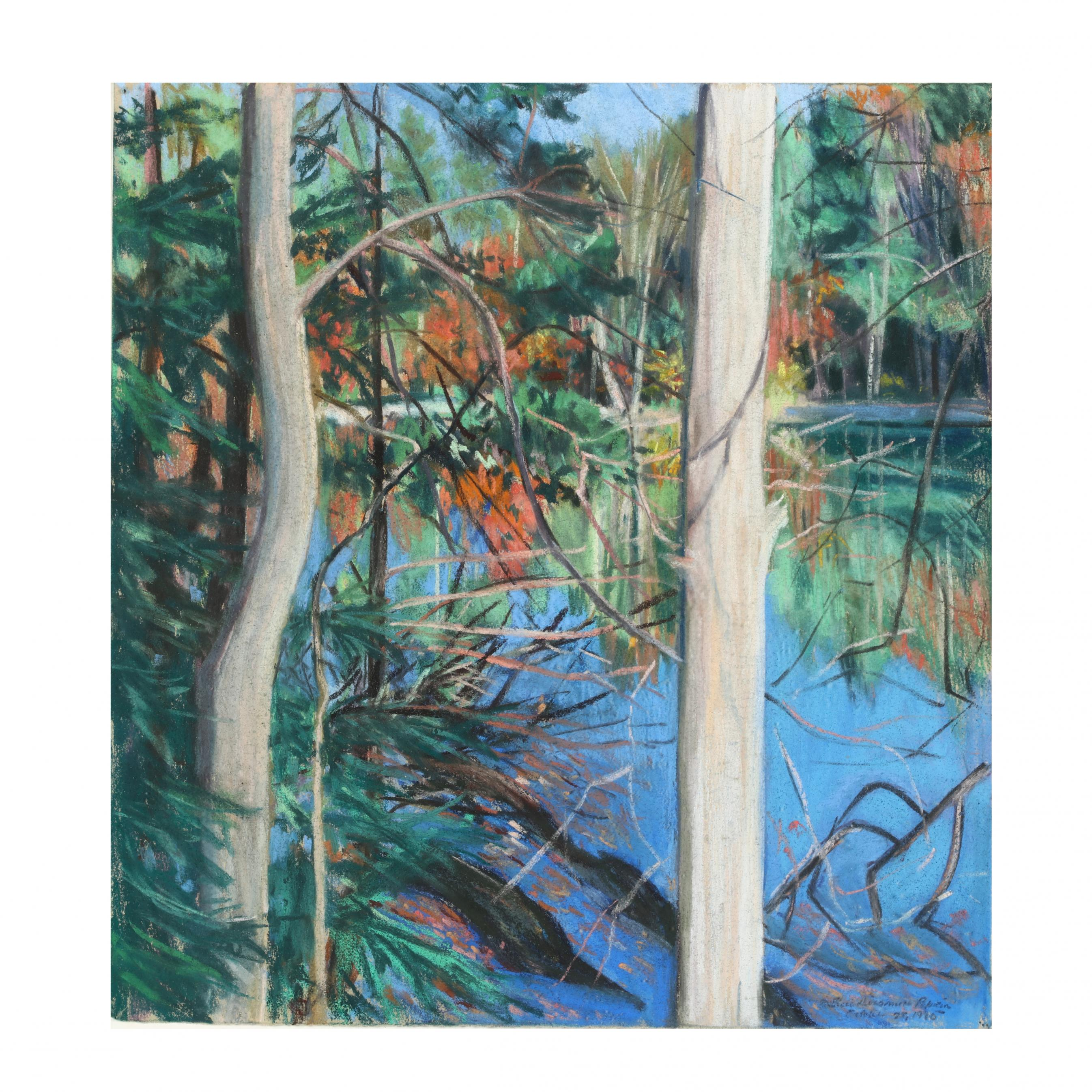elsie-dinsmore-popkin-nc-ny-1937-2005-i-yaddo-lake-spencer-late-october-i