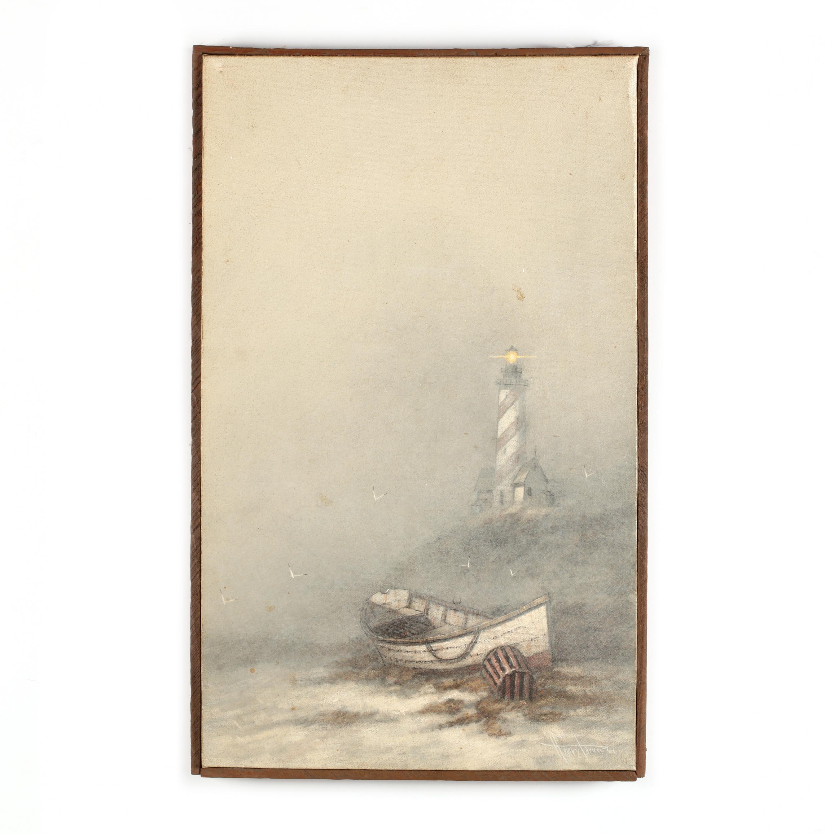 henry-parker-b-1938-lighthouse-in-fog