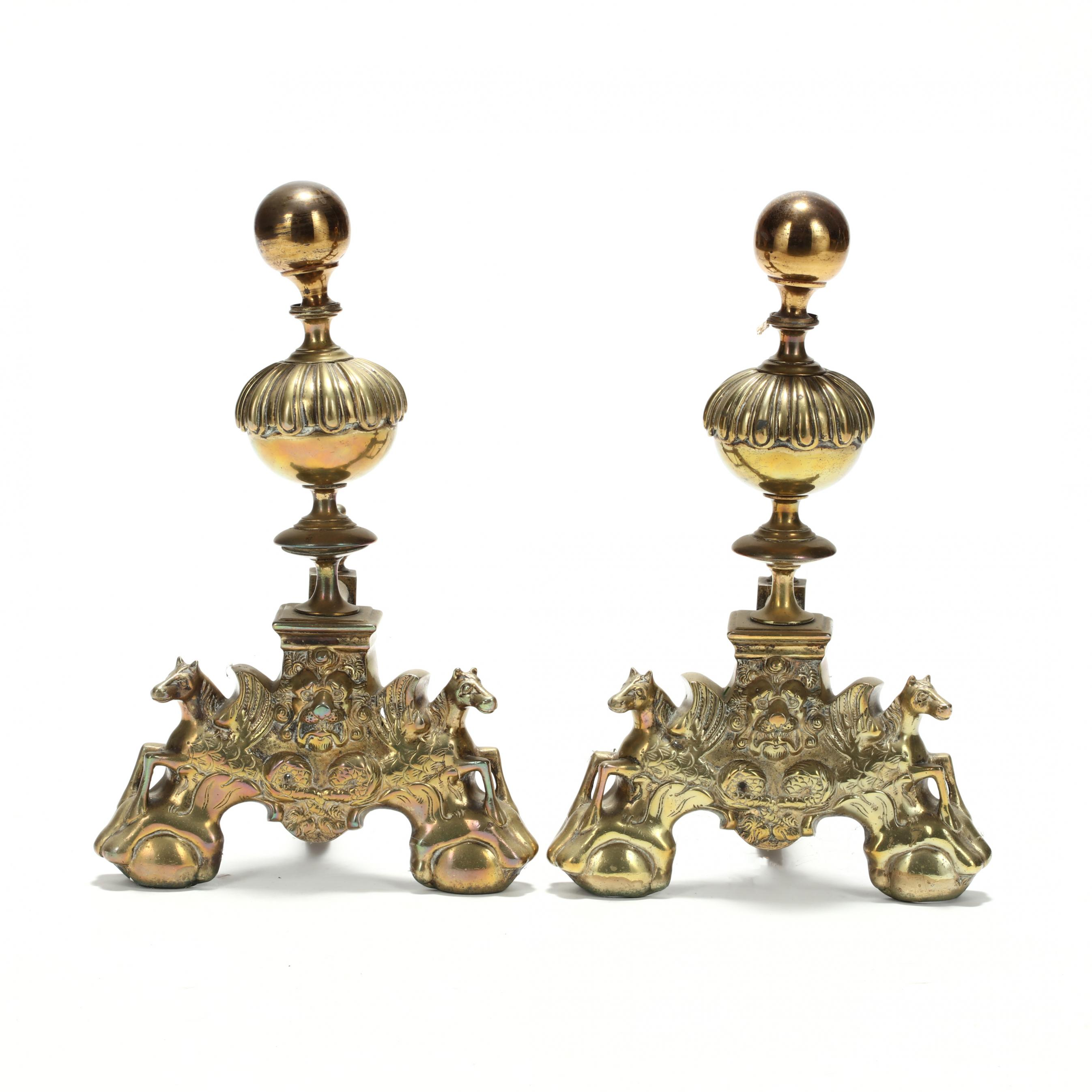 pair-of-antique-continental-brass-firedogs