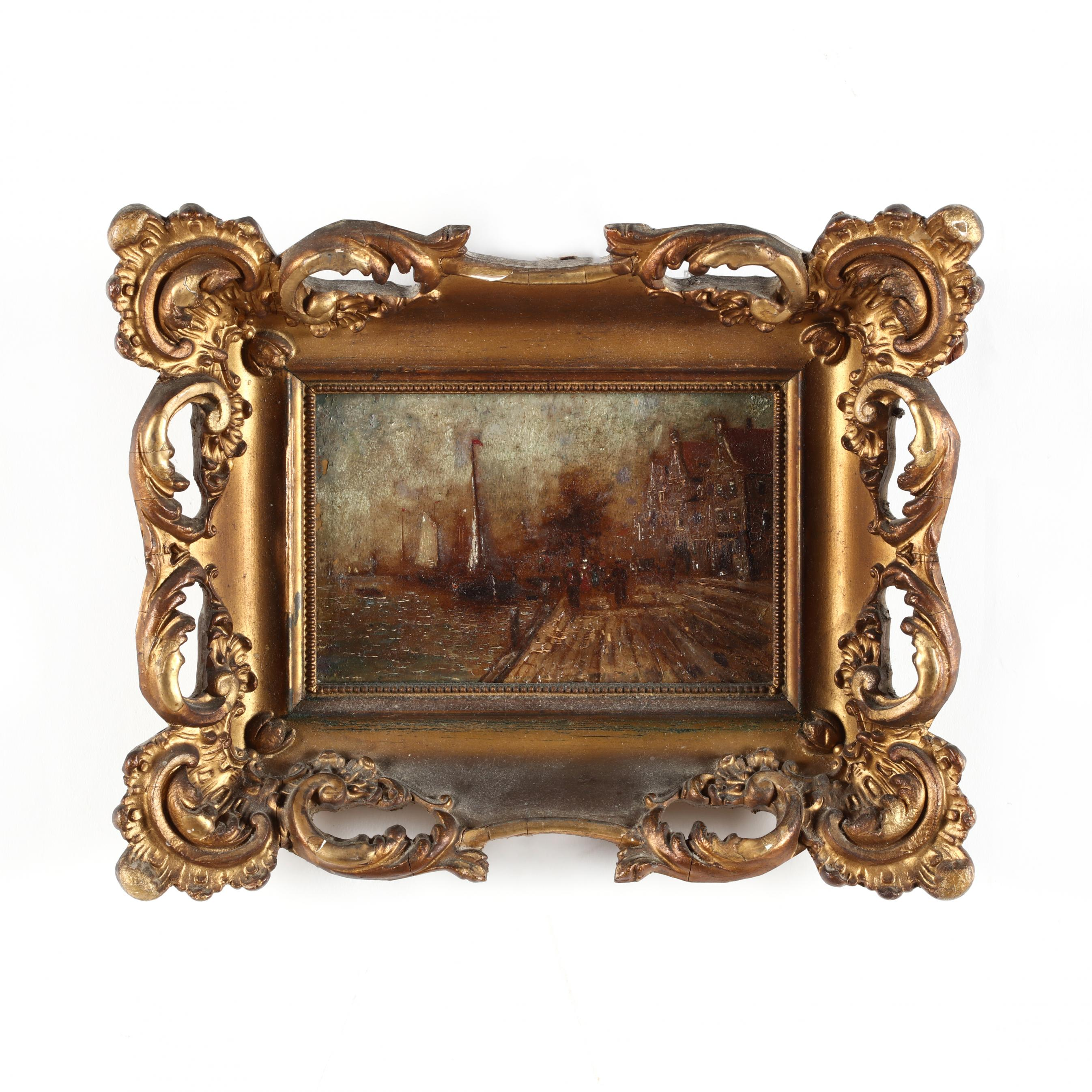 an-antique-continental-school-harbor-painting