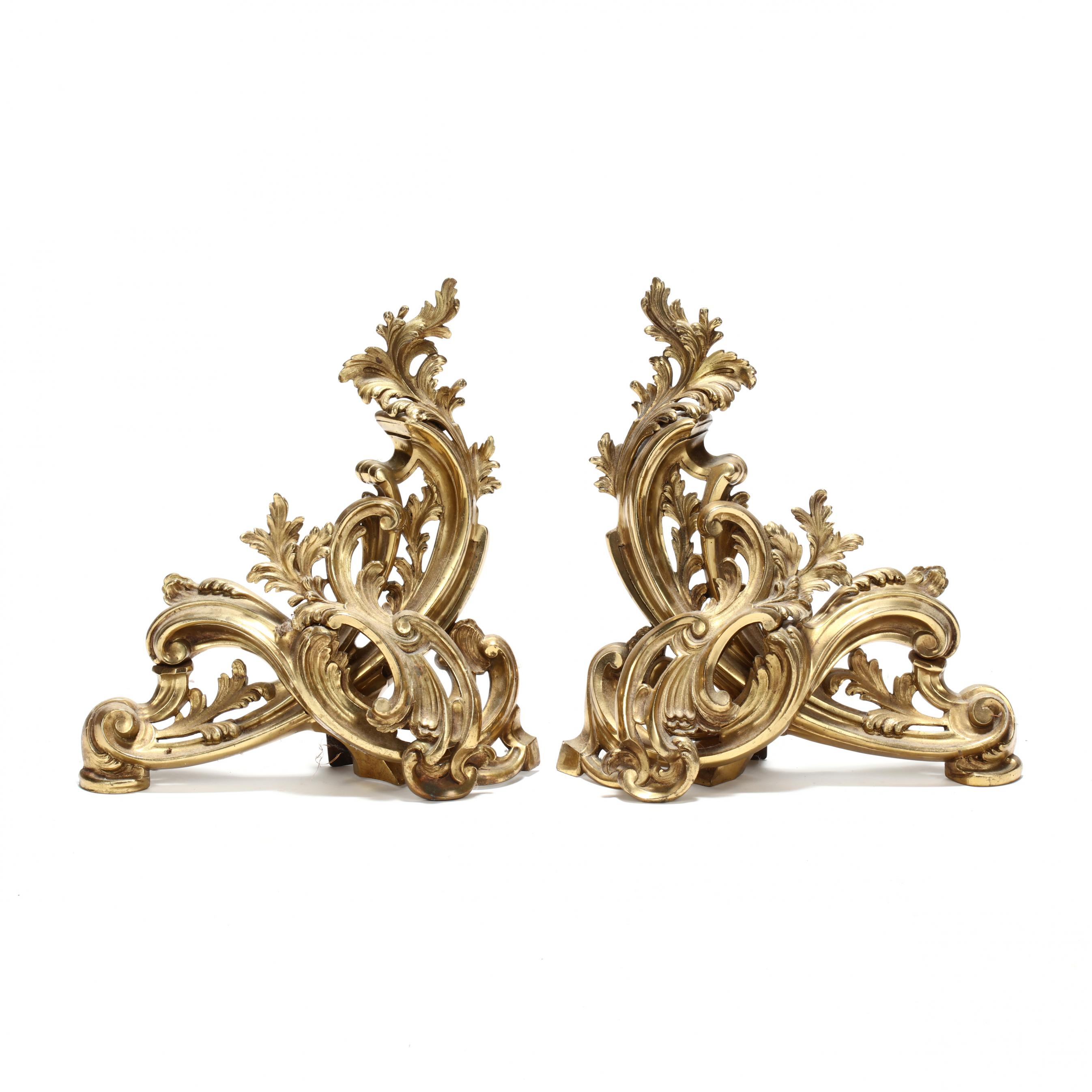 pair-of-french-rococo-style-gilt-brass-chenets