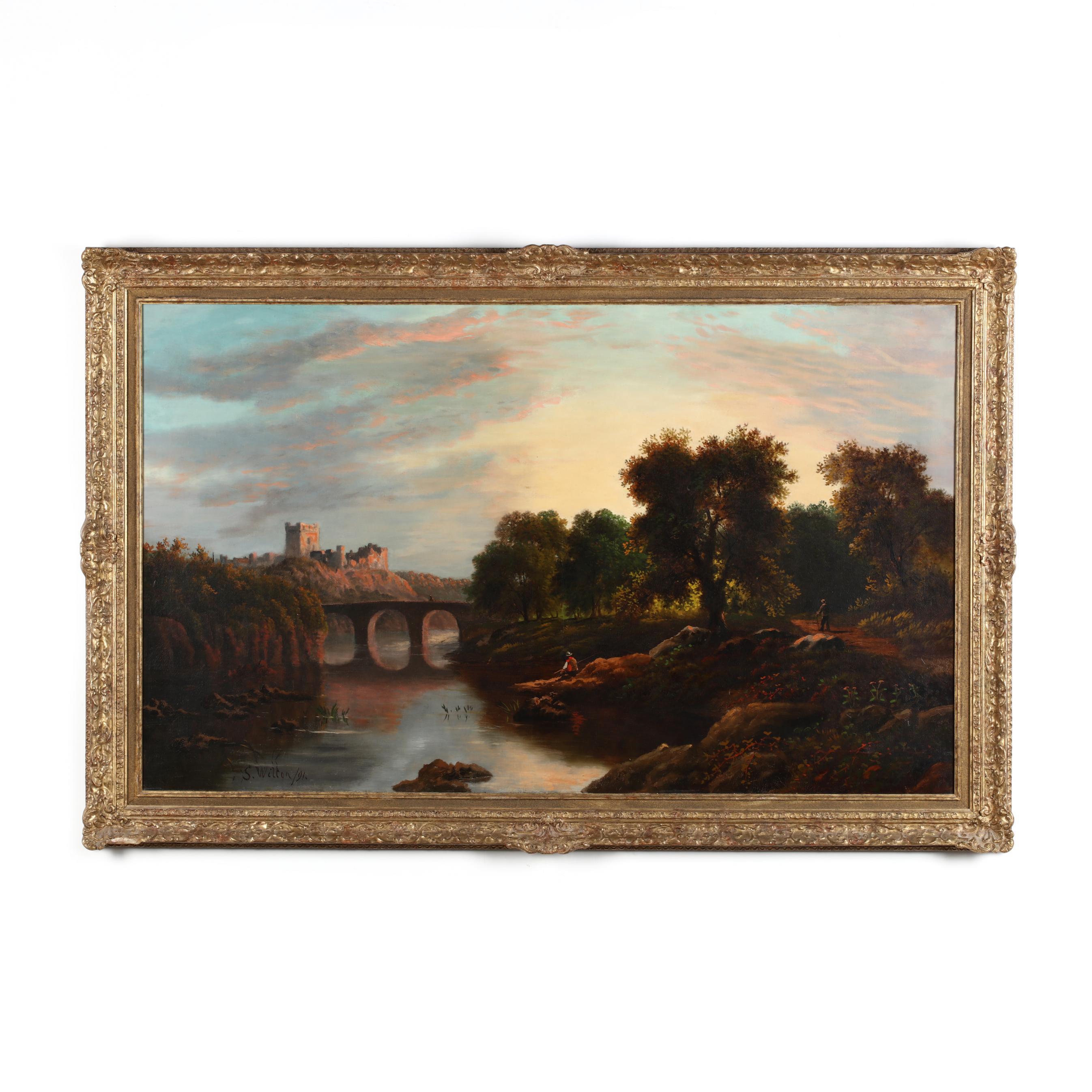 s-wilton-british-19th-century-i-view-of-richmond-castle-yorkshire-i