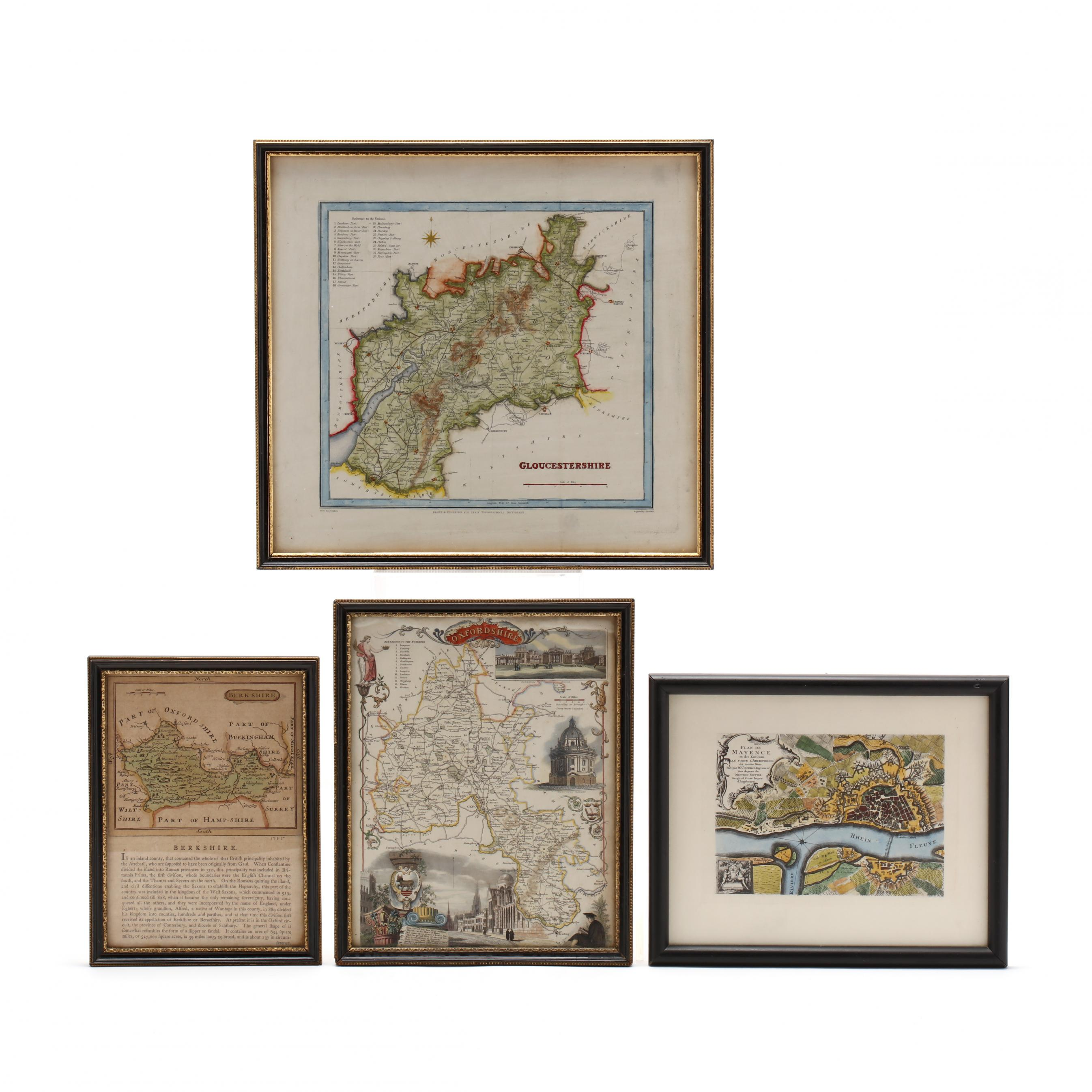 three-english-shire-maps-and-one-french-city-plat