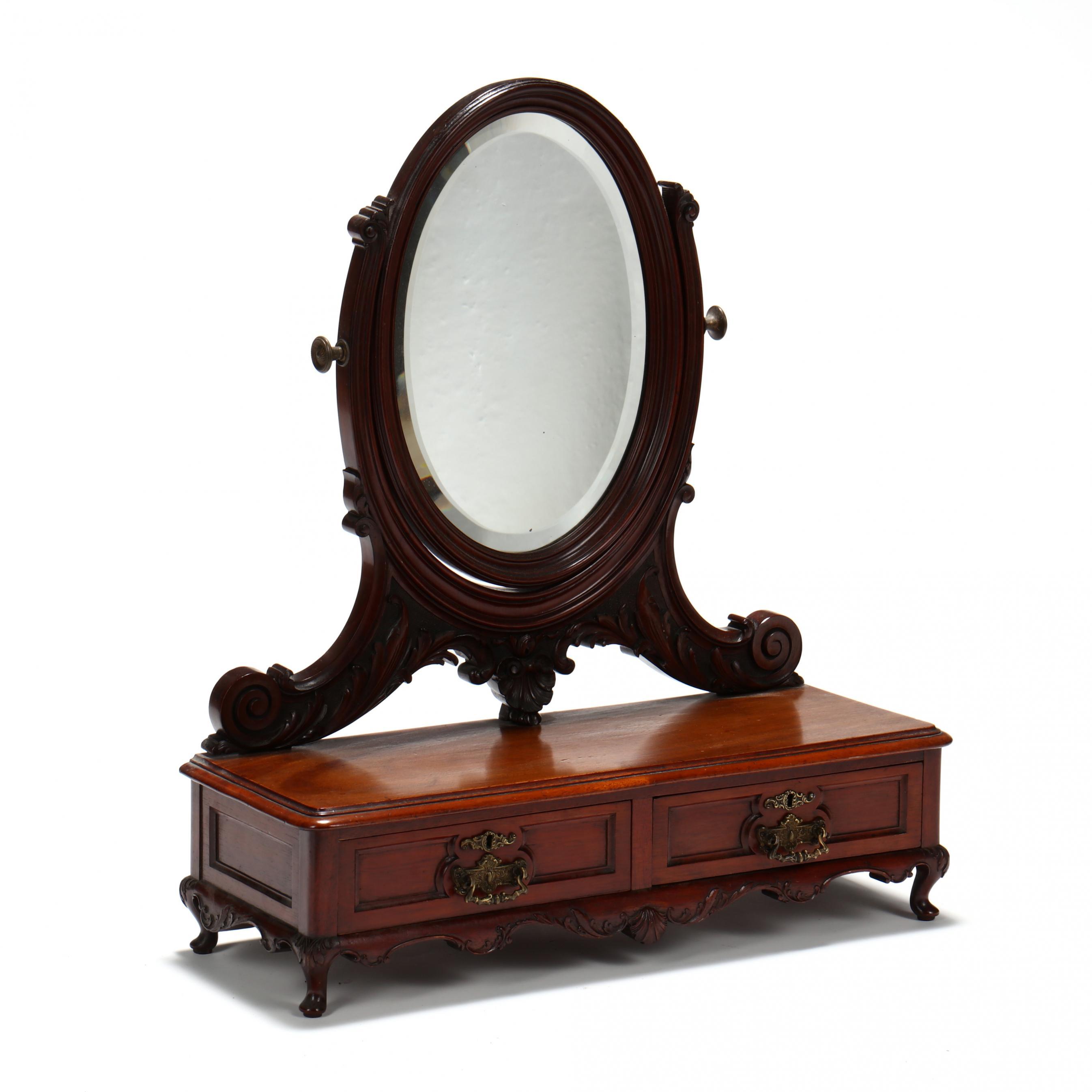 john-henry-belter-carved-mahogany-dressing-mirror