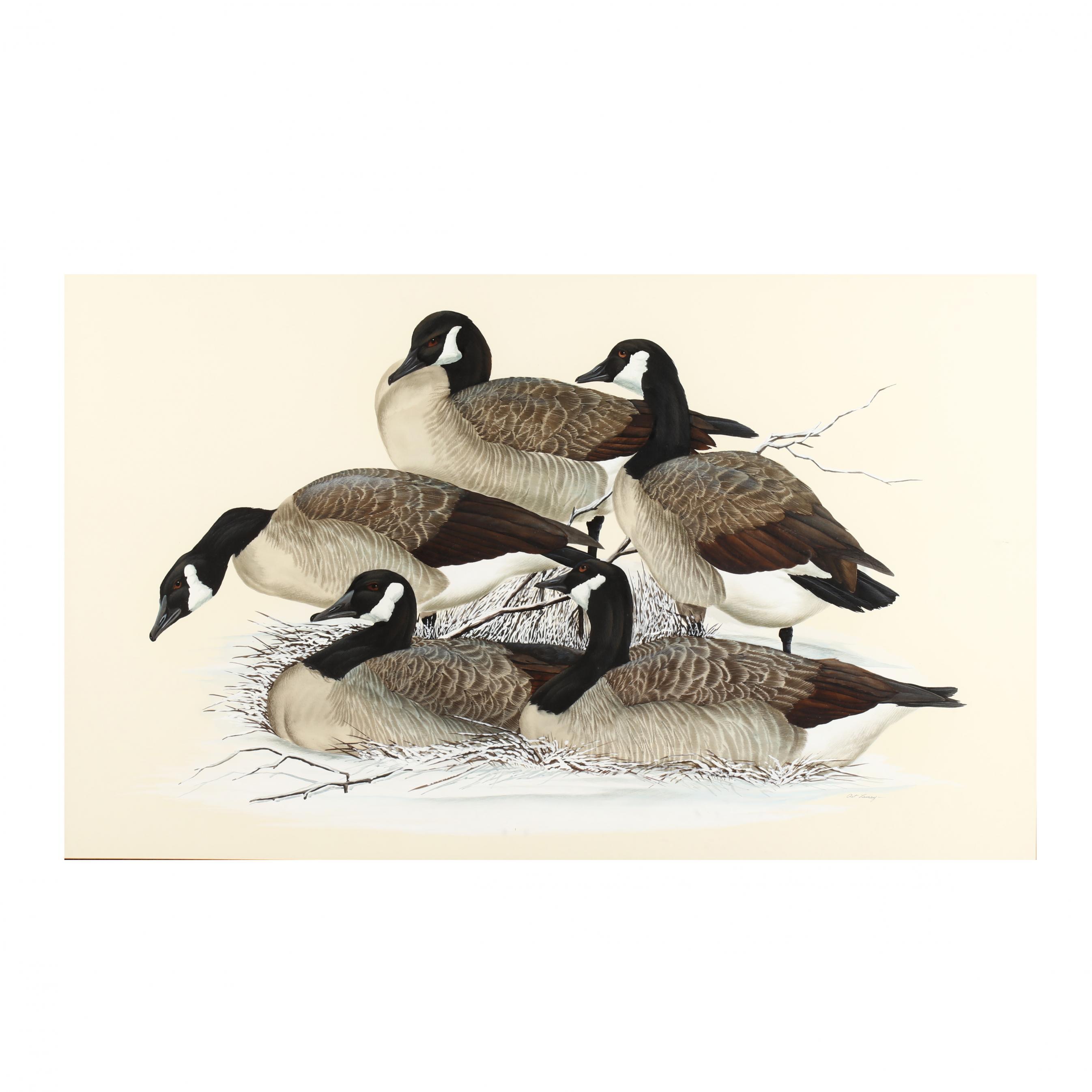 art-lamay-born-1938-large-watercolor-of-geese