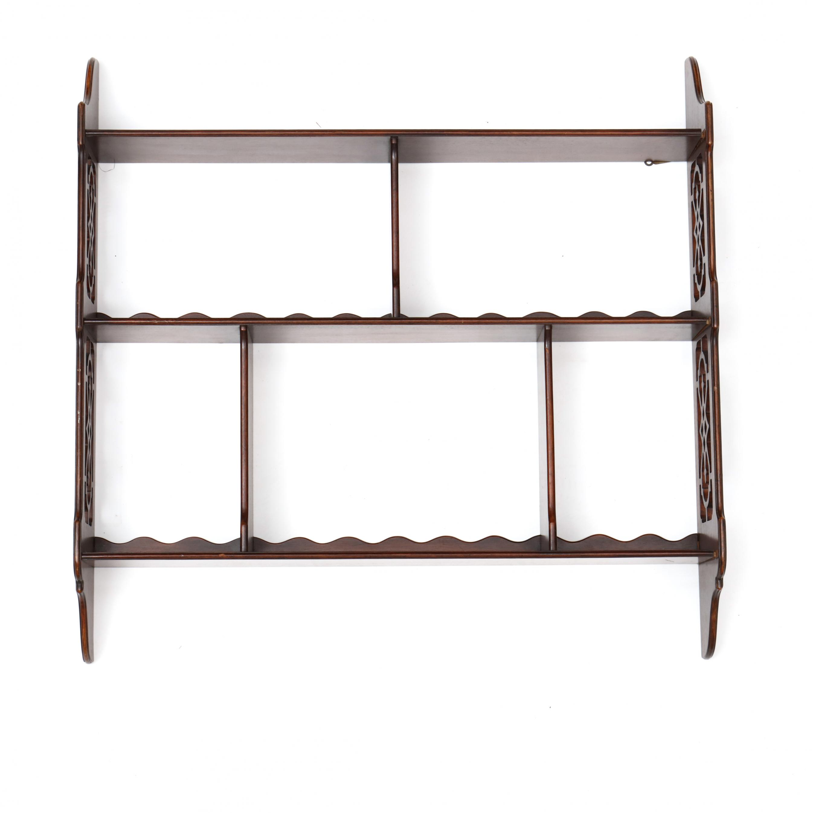 chippendale-style-mahogany-hanging-wall-shelf