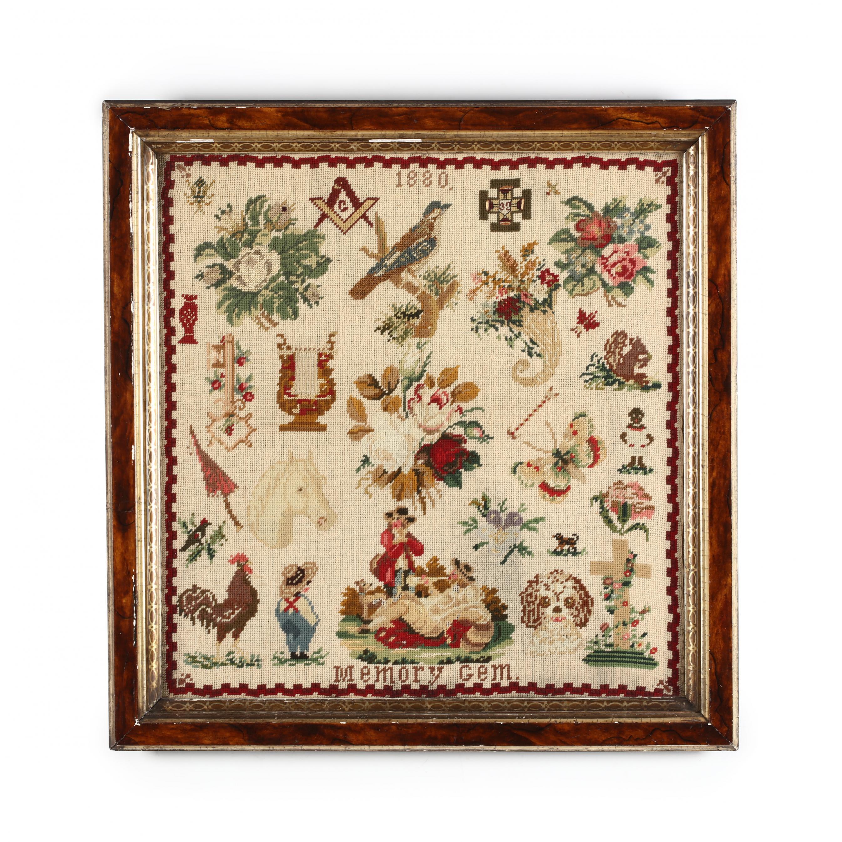 antique-wool-work-memory-gem-sampler