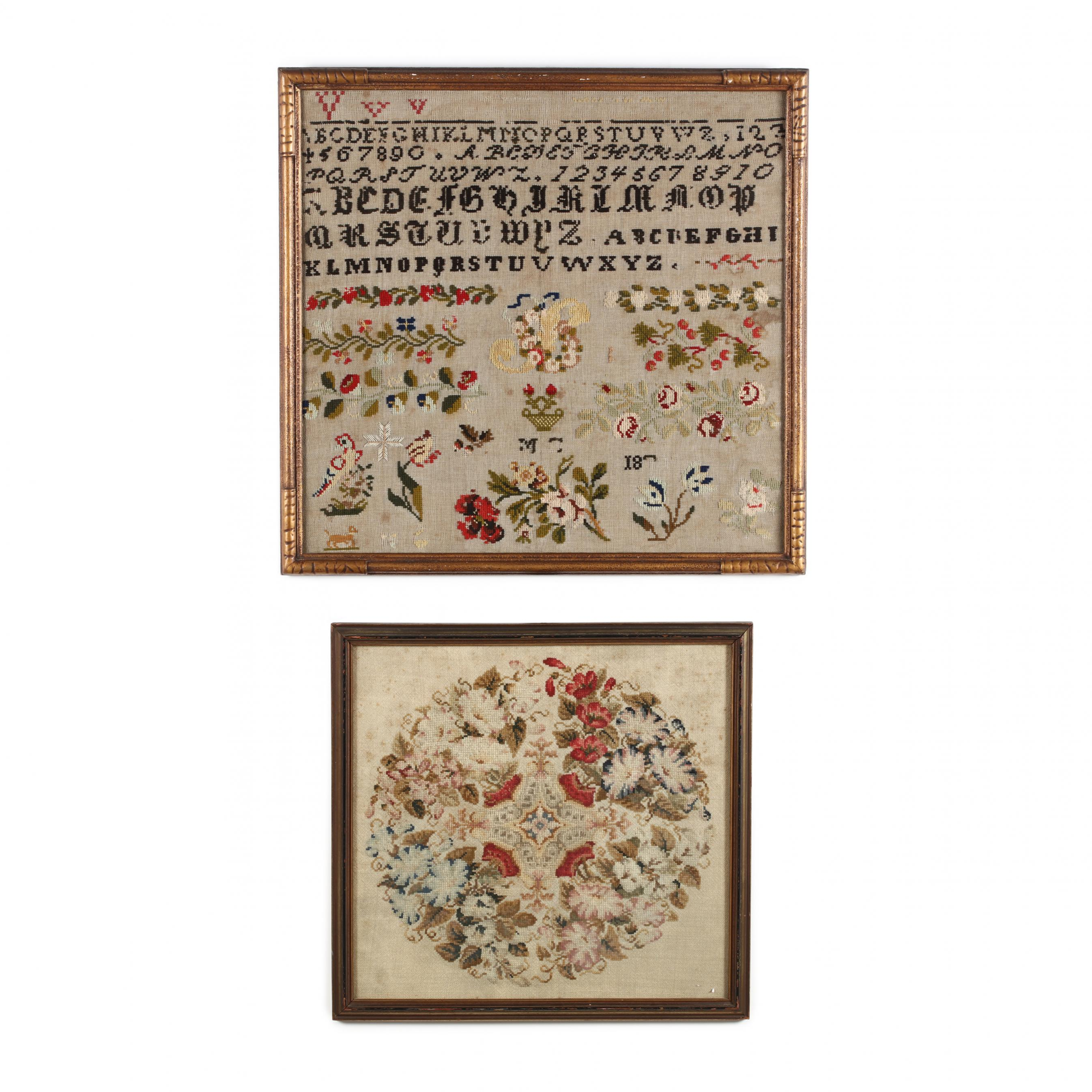 two-antique-wool-work-embroideries