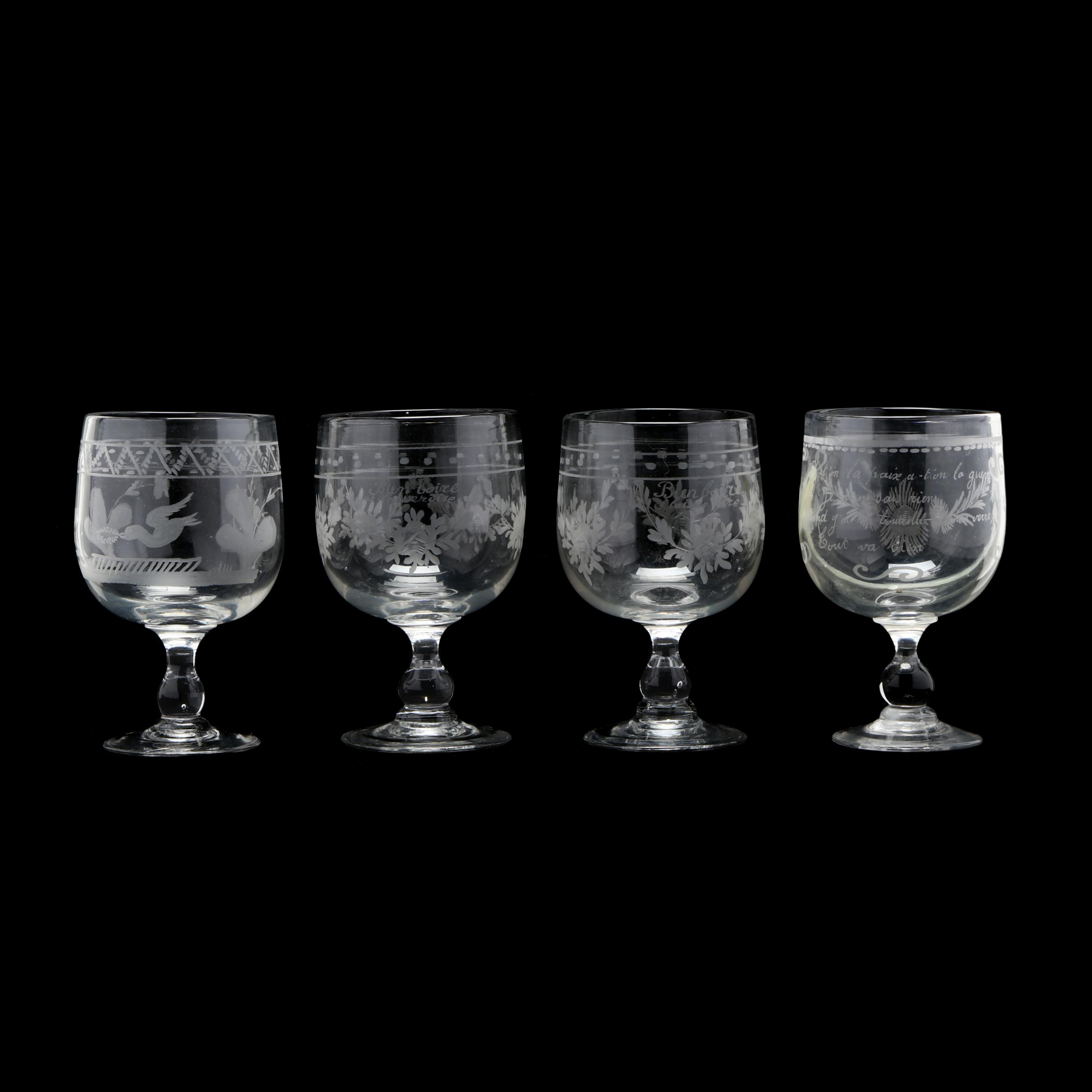 four-vintage-etched-french-wedding-goblets