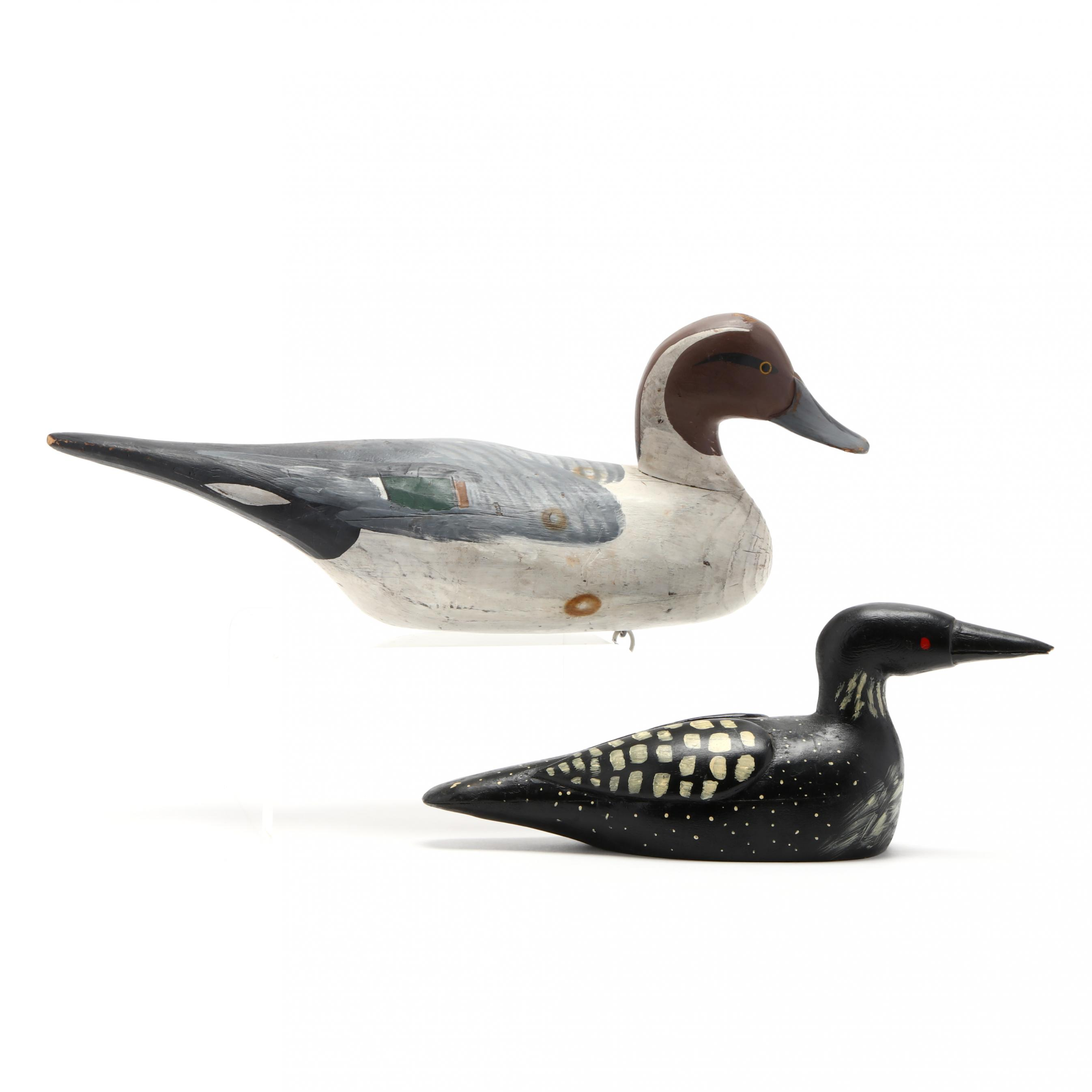 two-carved-and-painted-wood-duck-decoys