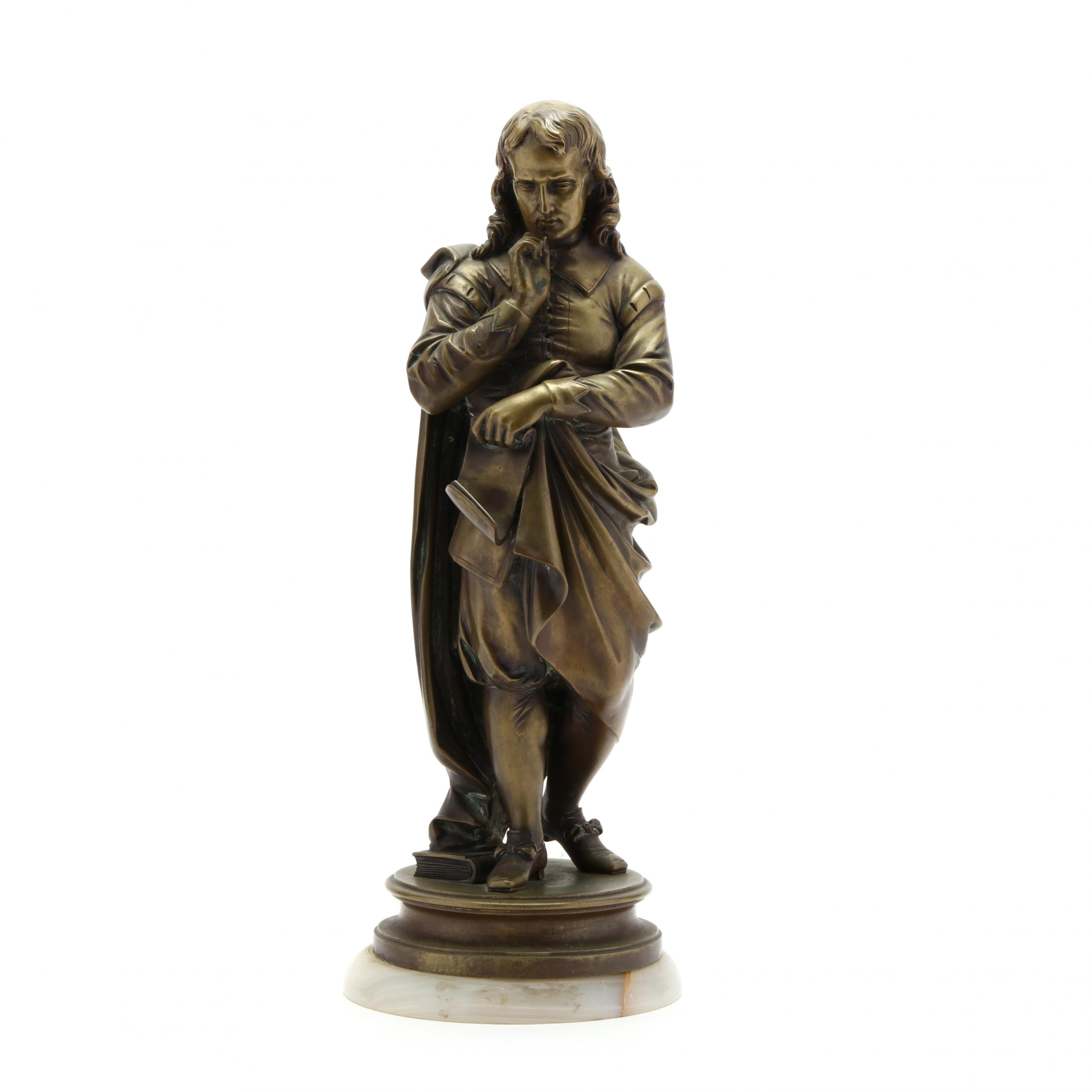 a-bronze-sculpture-of-a-philosopher