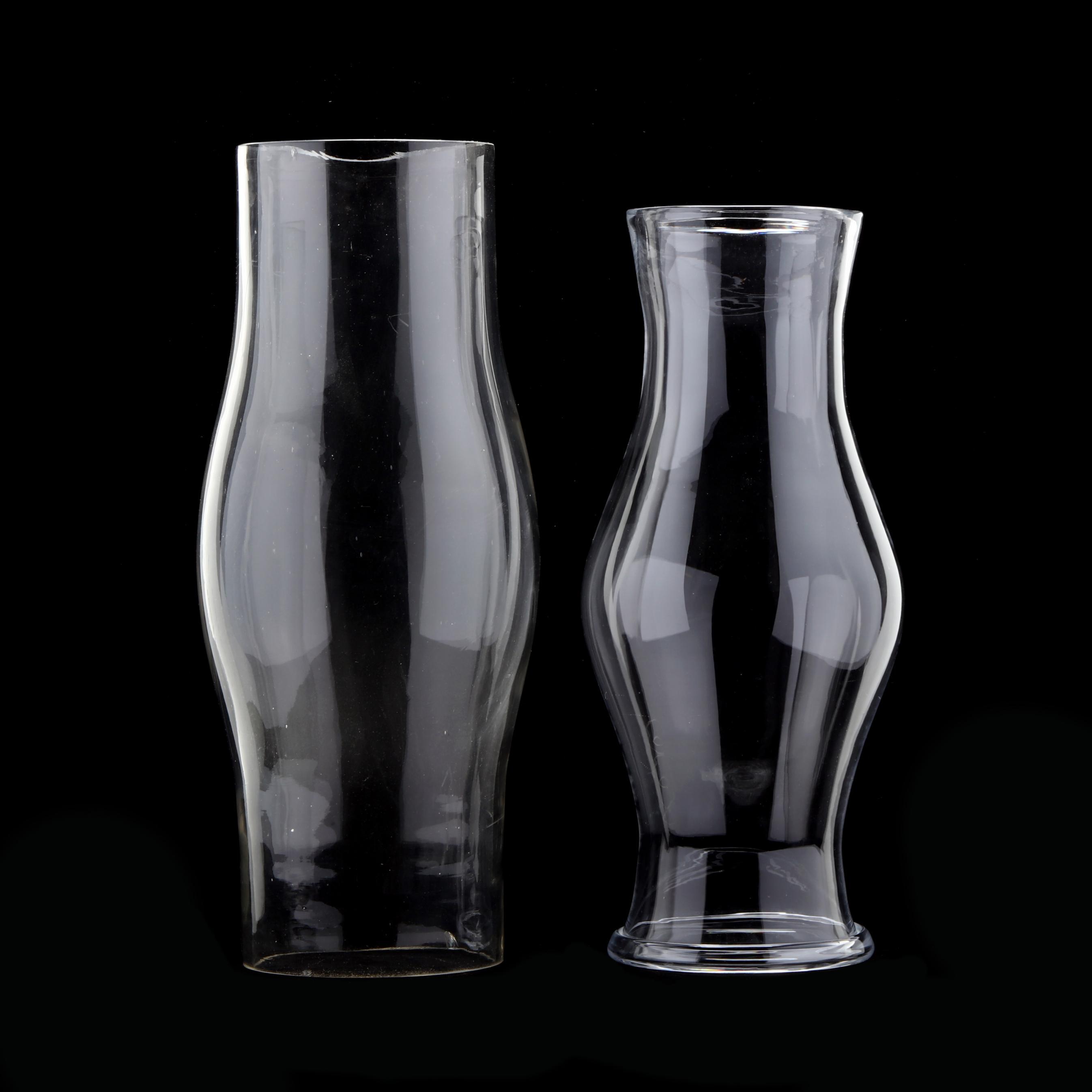 two-blown-glass-hurricane-shades