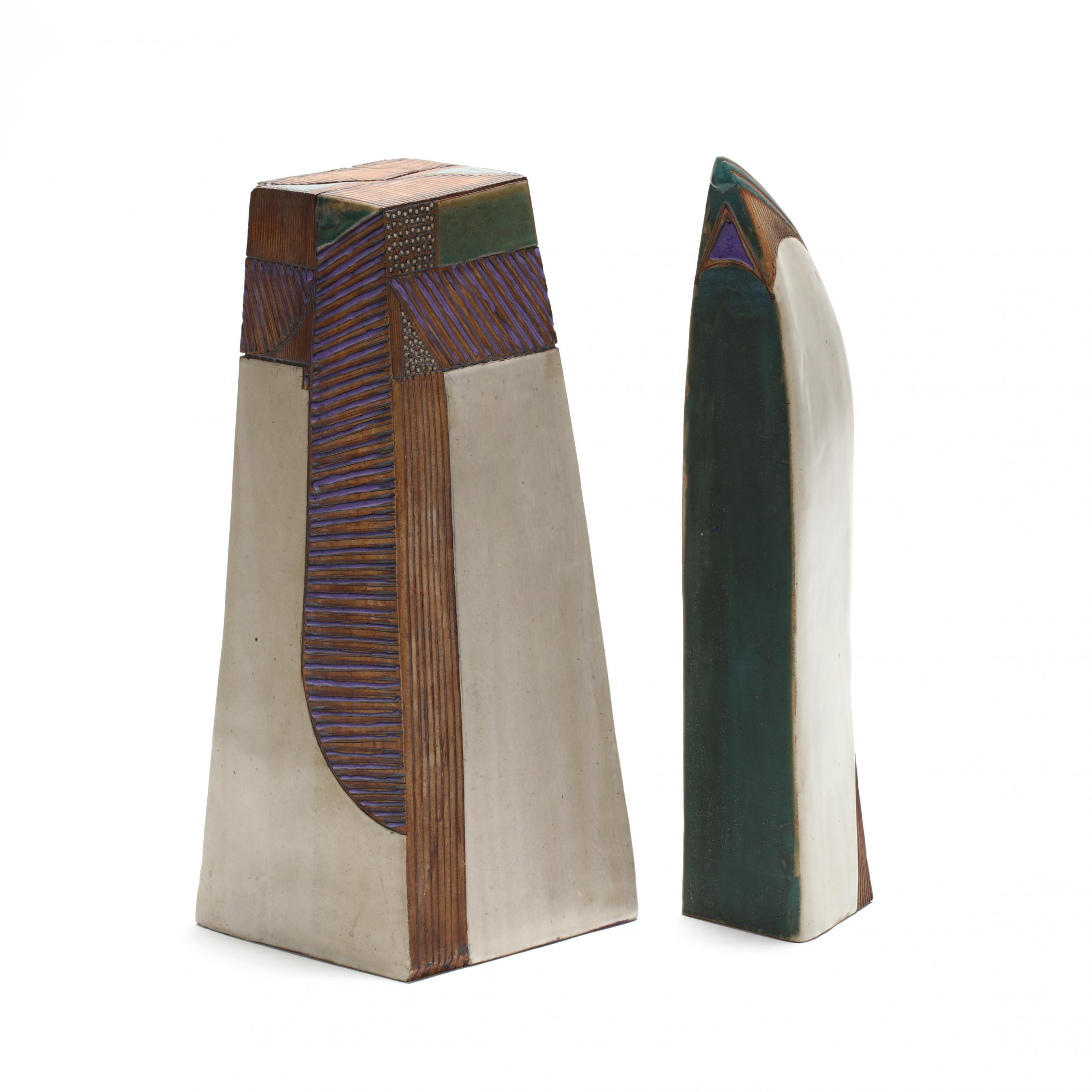 elaine-reed-nc-two-contemporary-pottery-sculptures