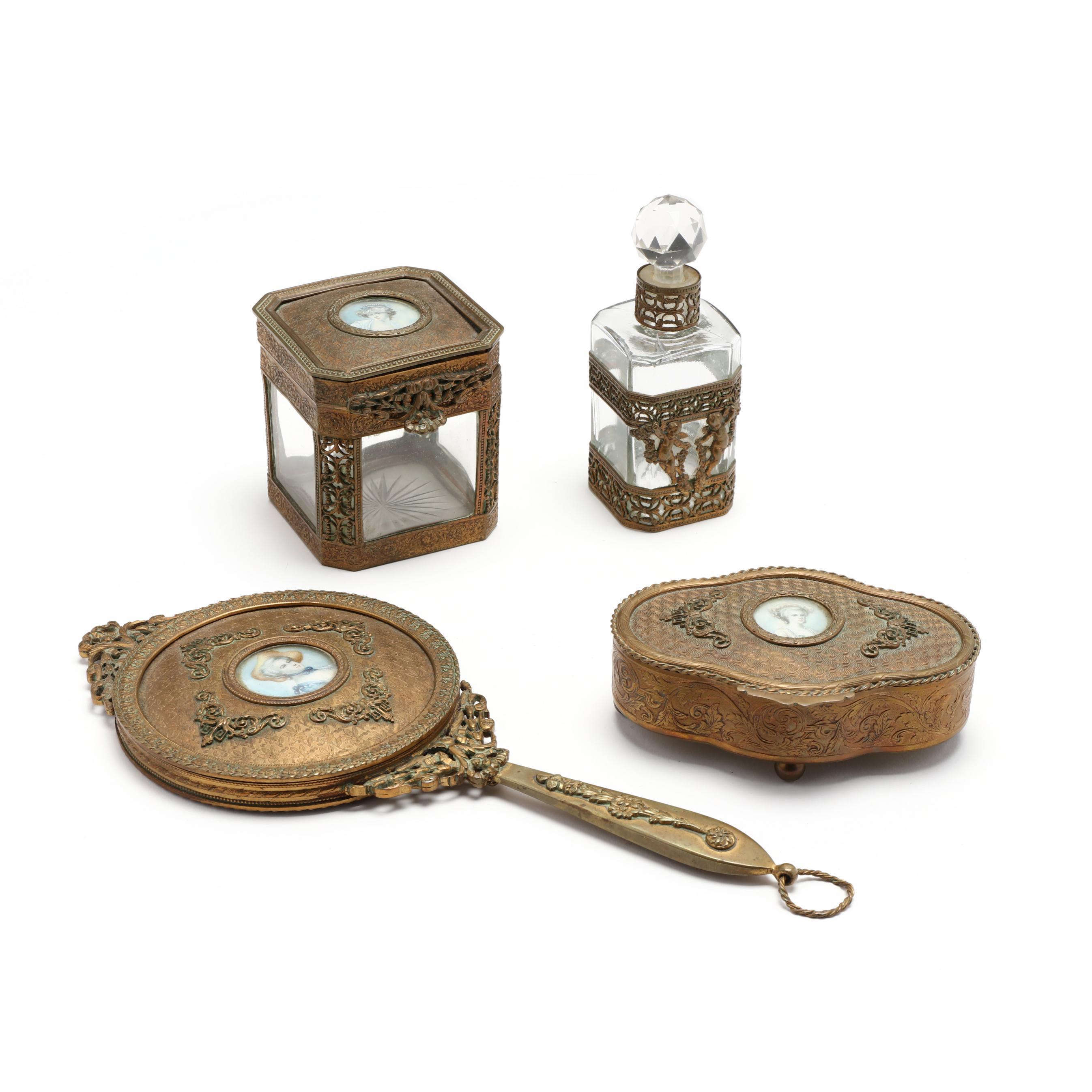 antique-french-dresser-set-with-miniature-portrait-decoration