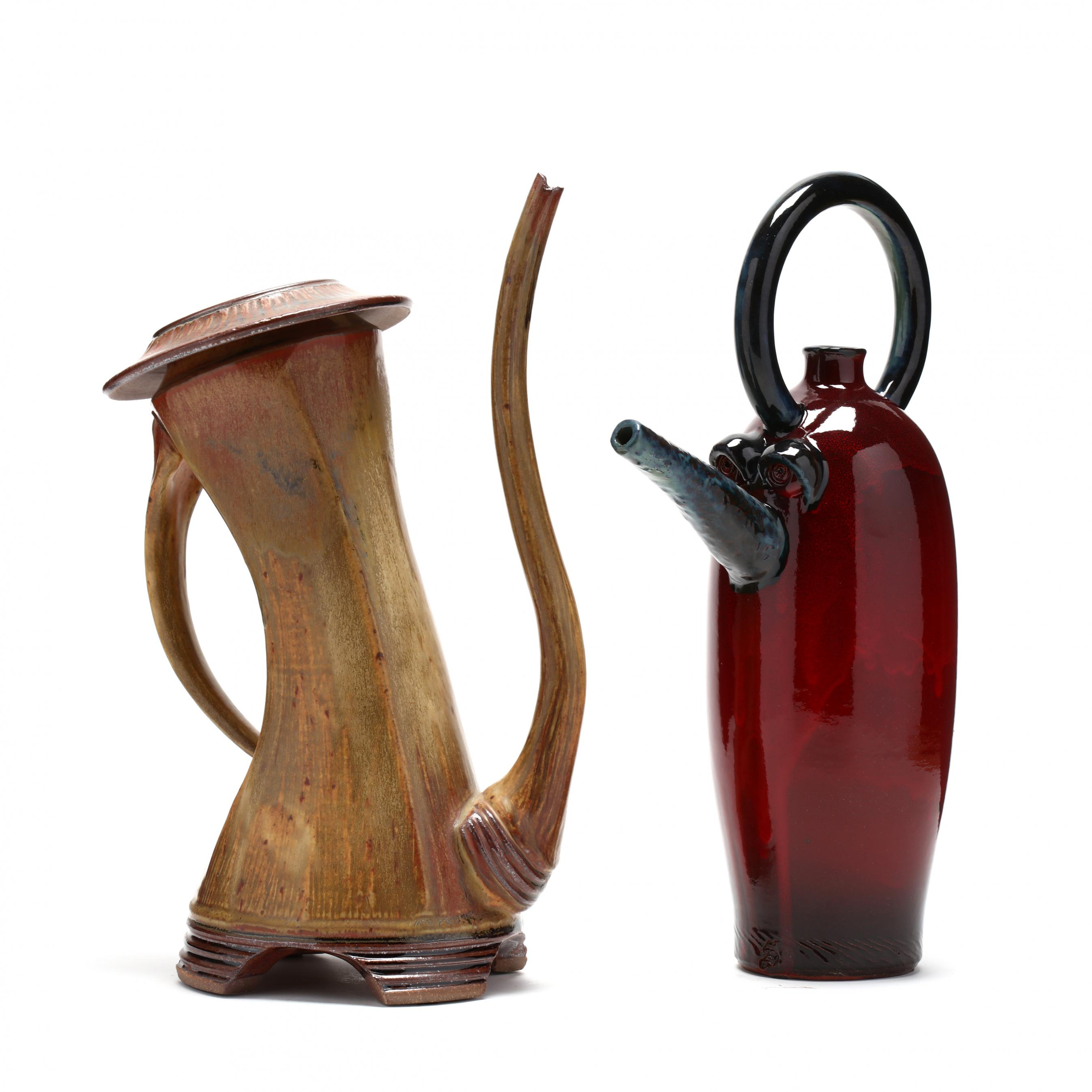 two-contemporary-pottery-teapots