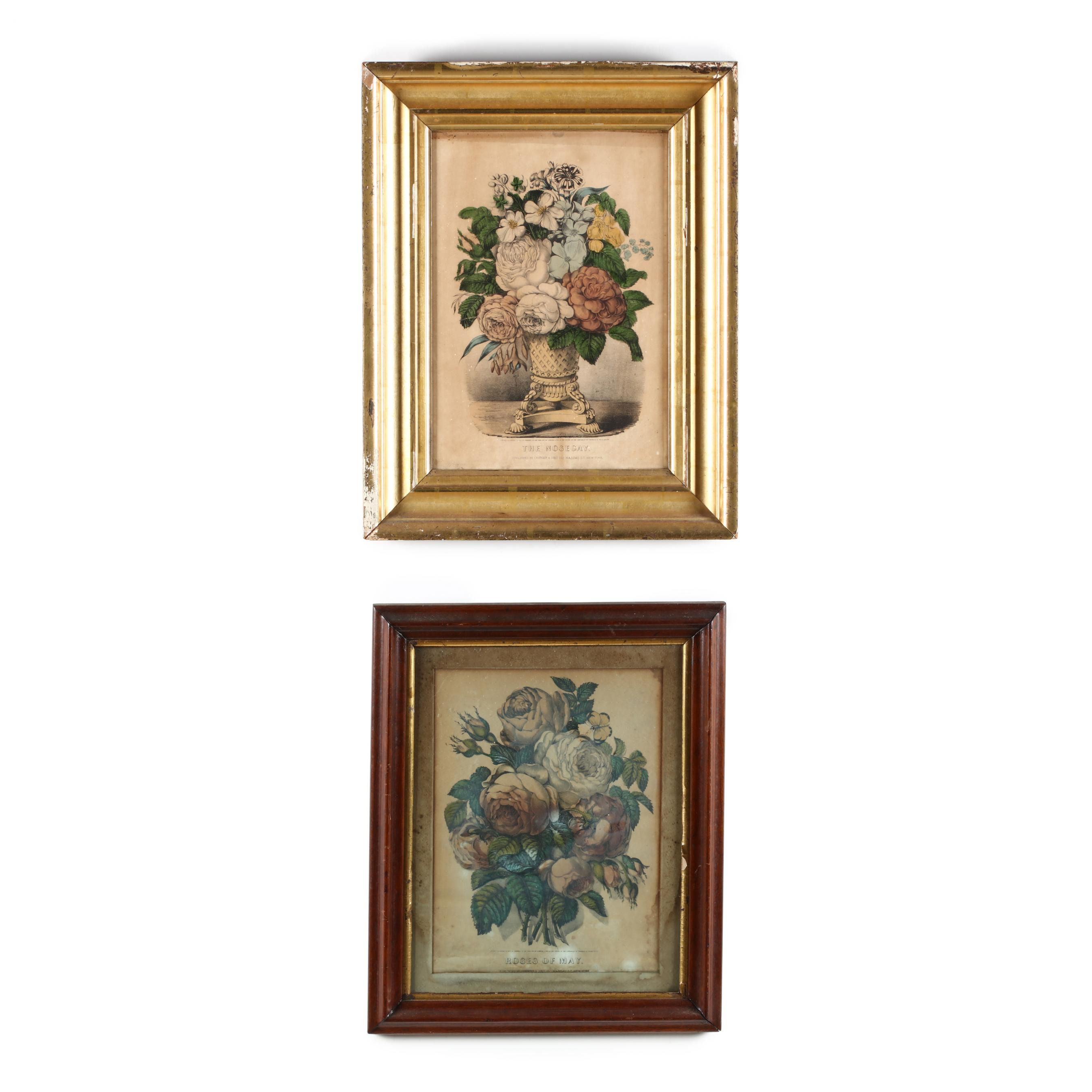 two-currier-ives-botanical-prints