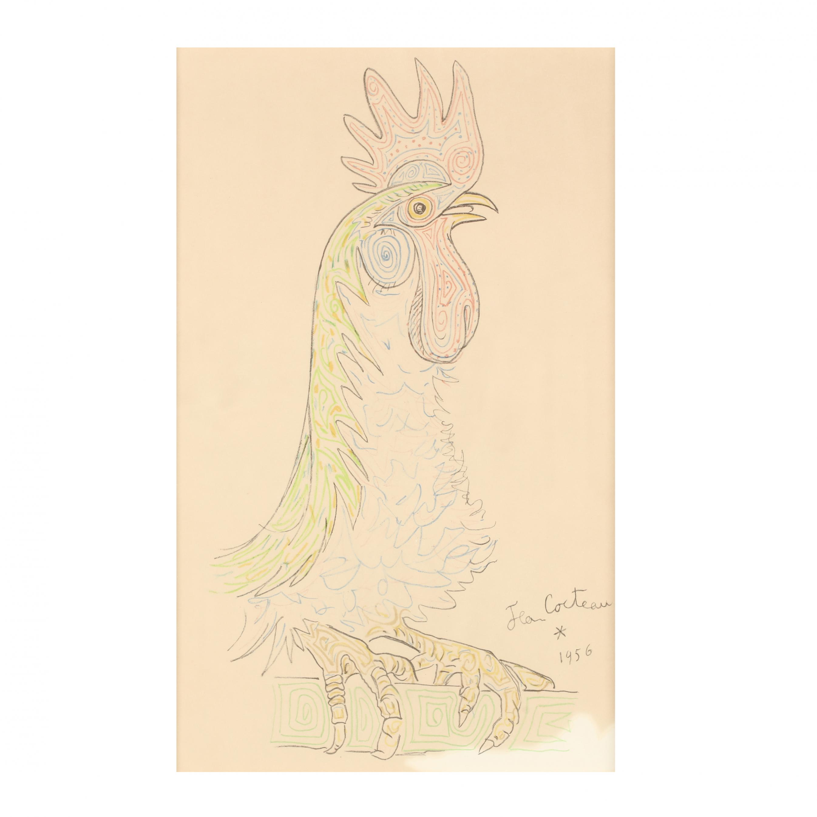 jean-cocteau-french-1889-1963-i-le-coq-the-rooster-i