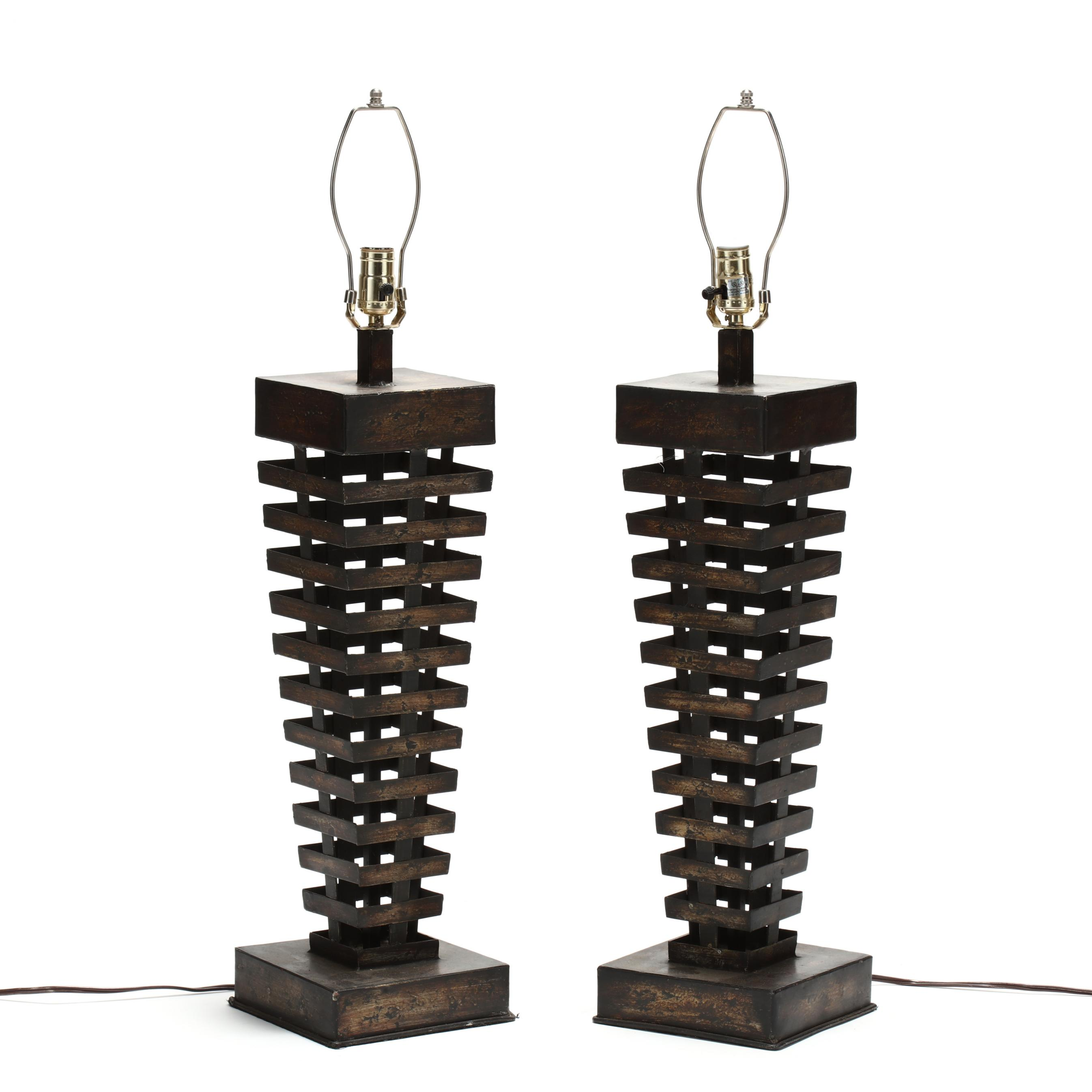 pair-of-contemporary-brutalist-metal-table-lamps