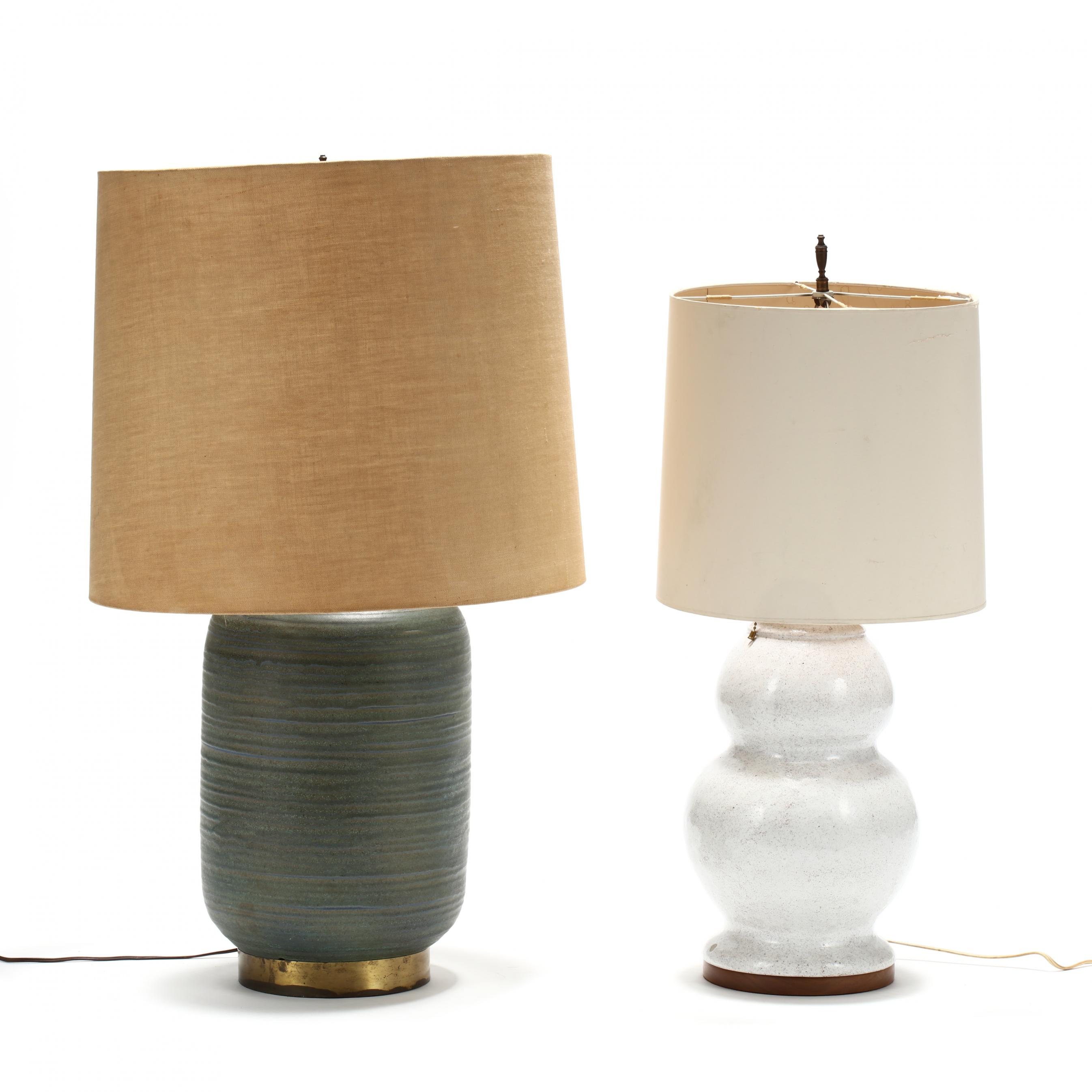 two-mid-century-pottery-table-lamps