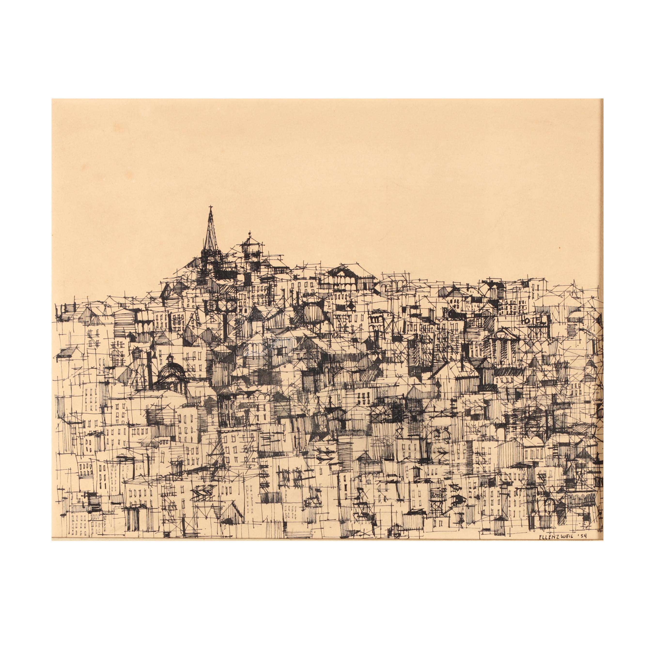harry-ellenzweig-ma-1931-2014-untitled-city-skyline