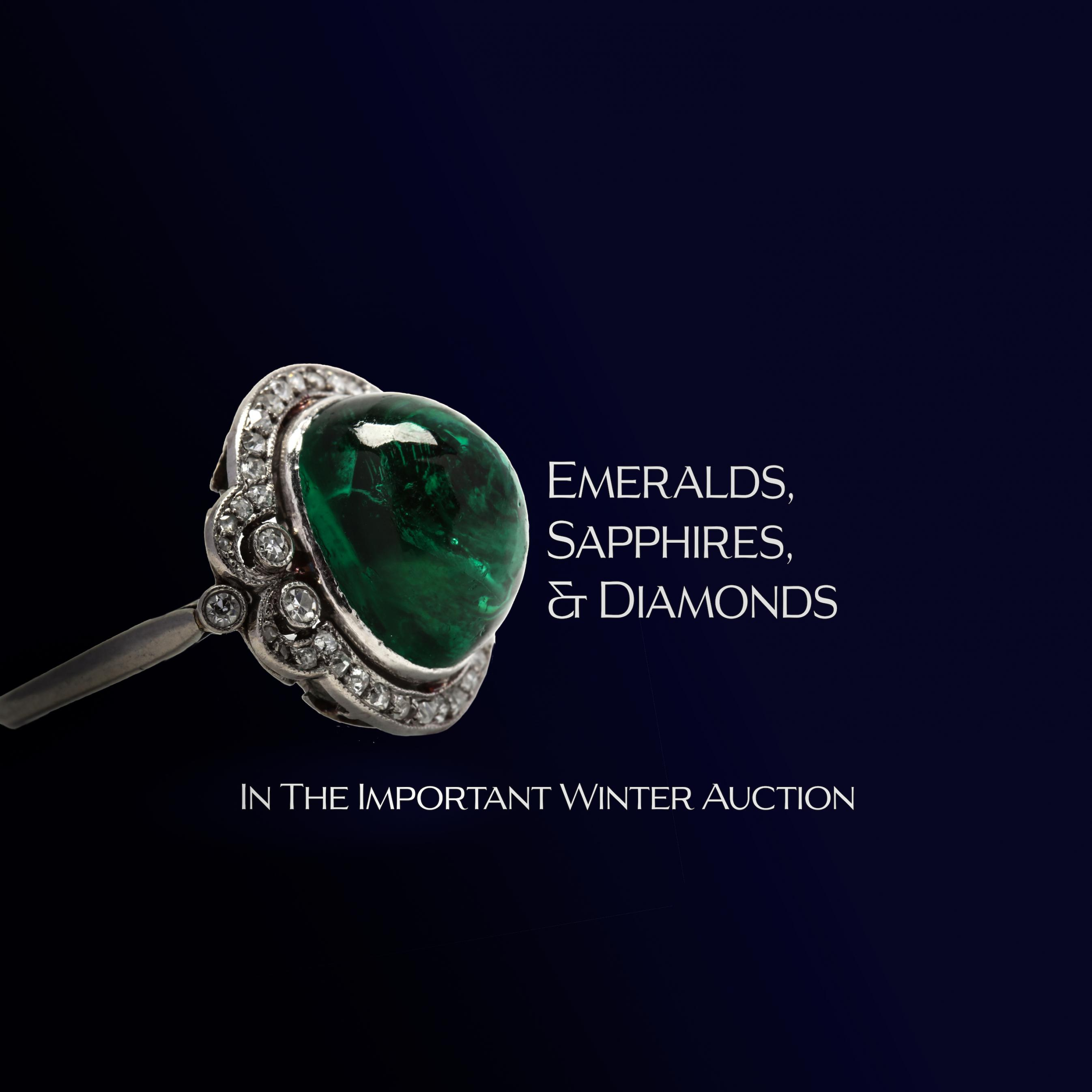 Emeralds, Sapphires, and Diamonds in The Important Winter Auction