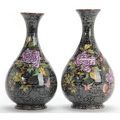 pair-of-ye-olde-foley-ware-mantel-vases