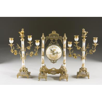 chinoiserie-mounted-mantel-set-19th-c