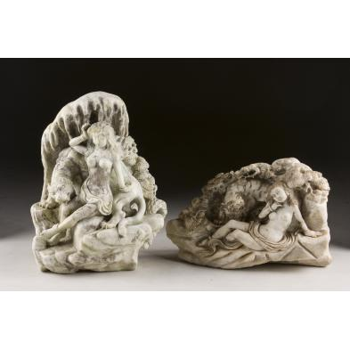 two-asian-stone-relief-carvings