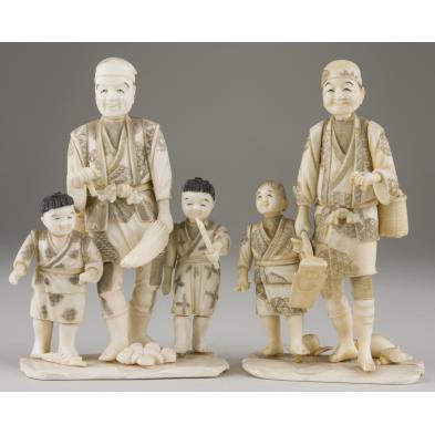 two-japanese-ivory-okimono-figurals