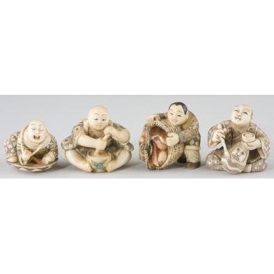 four-ivory-occupational-netsukes