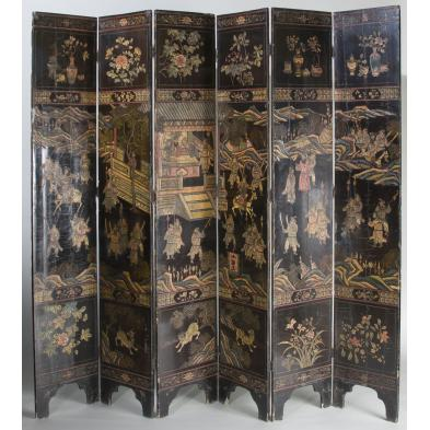 asian-six-panel-lacquered-screen-19th-century