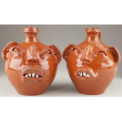 pair-of-m-l-owens-face-jugs-nc-pottery