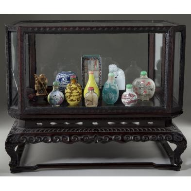 chinese-curio-box-with-objets-d-art-collection