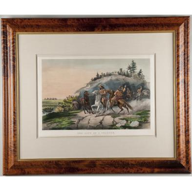 rare-currier-ives-western-americana-lithograph