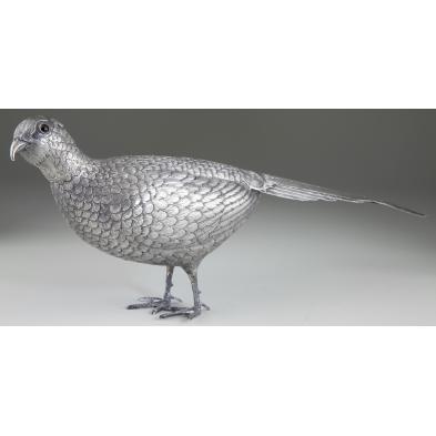 silver-pheasant-table-ornament