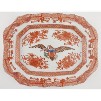 chinese-export-orange-fitzhugh-pattern-platter