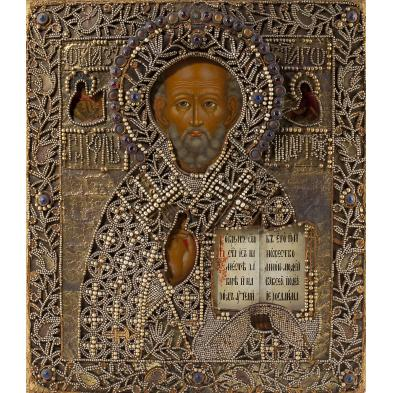 antique-jeweled-russian-icon-of-st-nicholas