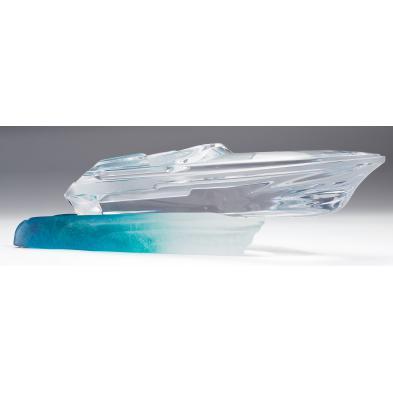 daum-art-glass-monaco-power-boat-with-wave