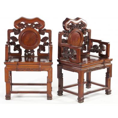 pair-of-chinese-hardwood-throne-chairs