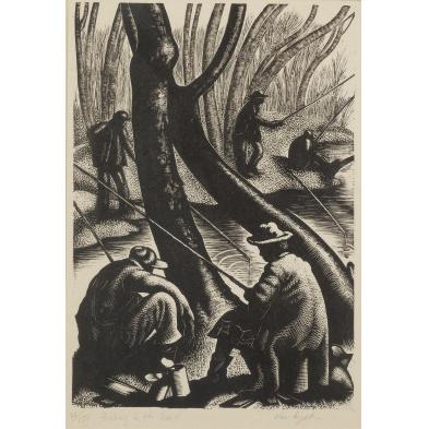 clare-leighton-1898-1989-fishing-in-the-creek
