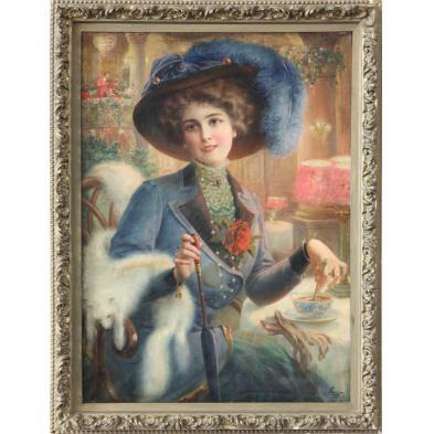 emile-vernon-french-1872-1919-parisian-beauty