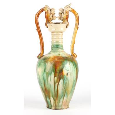 chinese-sancai-glazed-amphora