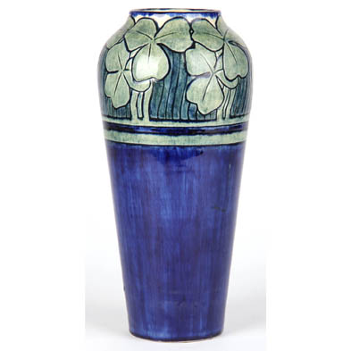 early-newcomb-college-baluster-vase