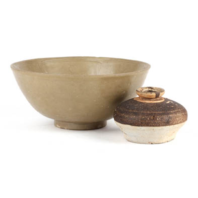 two-chinese-pottery-items